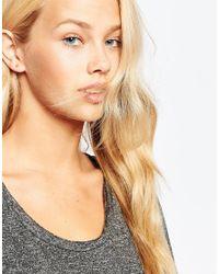 Stella & Bow - Metallic Tiny Stud Earrings - Lyst