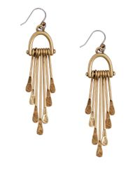Lucky Brand | Metallic Goldtone Paddle Drop Earrings | Lyst