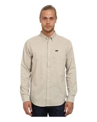 RVCA - Natural That'll Do Oxford L/s for Men - Lyst