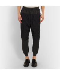 Haider Ackermann - Gray Panelled Cotton Sweatpants for Men - Lyst