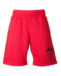 Stussy Red Sweat Shorts for men