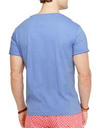 Polo Ralph Lauren | Blue Jersey V-Neck T-Shirt for Men | Lyst