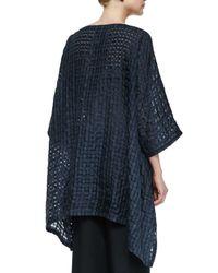 Eskandar - Blue Check Weave Arched Top - Lyst