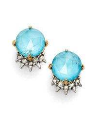 Alexis Bittar | Blue Spike Crystal Stud Earrings | Lyst