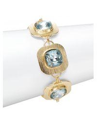 Saks Fifth Avenue | Blue Textured Station Bracelet | Lyst