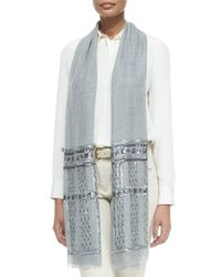Loro Piana - Blue Notturno Sequin-embellished Woven Stole - Lyst