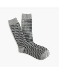 J.Crew | Gray Houndstooth Socks for Men | Lyst