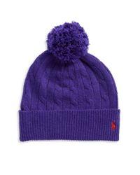 Polo Ralph Lauren | Purple Merino Wool And Cashmere Beanie | Lyst
