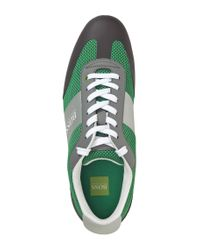 BOSS Green - Green Mesh Sneakers 'Light Air' for Men - Lyst