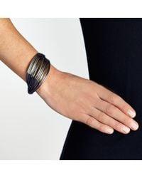 John Lewis - Blue Multi Row Cord Metal Tube Bracelet - Lyst