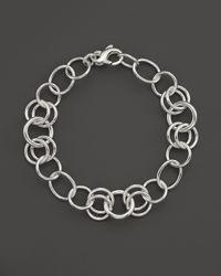 Ippolita | Metallic Sterling Silver Round Link Charm Bracelet | Lyst