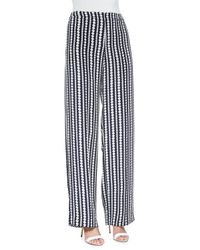 Mother Of Pearl - Black Penley Patterned Wide-leg Pants - Lyst
