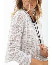 Forever 21 - Natural Boxy Open-knit Top You've Been Added To The Waitlist - Lyst