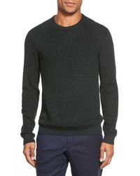 Ted Baker - Green 'reeko' Ribbed Crewneck Sweater for Men - Lyst