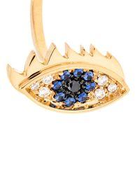 Delfina Delettrez | Blue Diamond, Sapphire, Pearl & Gold Eye Ring | Lyst