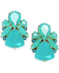 kate spade new york | Blue 14k Gold-plated Color Pop Stud Earrings | Lyst