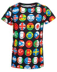 Moschino - Multicolor Global Logo T-shirt for Men - Lyst