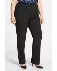 Sejour | Black 'ela' Modern Fit Pants | Lyst