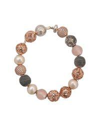 Thomas Sabo - Brown Karma Beads Coloured Bracelet - Lyst