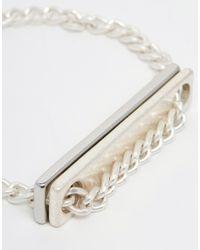 Cheap Monday - Metallic Plate Bracelet for Men - Lyst