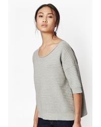 French Connection | Gray Heatwave Dinka Ribbed Knit | Lyst