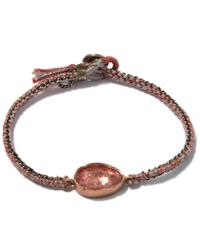 Brooke Gregson - Rose Gold Orbit Pink Tourmaline Silk Bracelet - Lyst