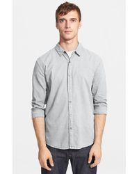 James Perse | Metallic 'classics' Trim Fit Woven Shirt for Men | Lyst