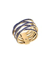 Michael Kors | Parisian Jewels Blue Crystal Crisscross Ring | Lyst