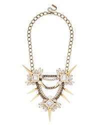 BaubleBar Metallic Spiked Lily Necklace