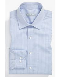 Michael Kors | Blue Regular Fit Non-iron Dress Shirt for Men | Lyst