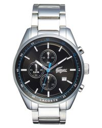 Lacoste - Metallic 'dublin' Chronograph Bracelet Watch for Men - Lyst
