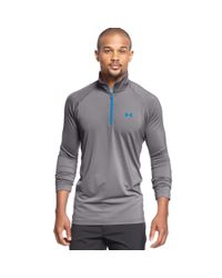 Under Armour - Gray Quarterzip Performance Pullover for Men - Lyst