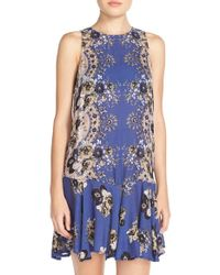 Free People | Blue Print Slip | Lyst