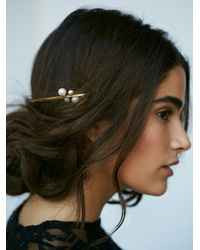 Free People - Metallic Amber Sceats Womens Floating Pearl Headpiece - Lyst