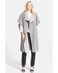 Tibi | Gray Reversible Wool & Angora Coat | Lyst