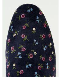 TOPMAN | Noose & Monkey Blue & Pink Velvet Floral Dress Slipper for Men | Lyst