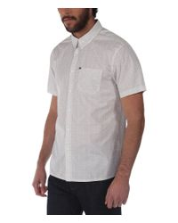 Bench | White Rapson C Pattern Short Sleeve Classic Collar Shir for Men | Lyst