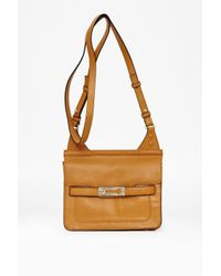 French Connection Natural Small Leather Shoulder Bag