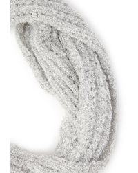 Forever 21 | Gray Open Knit Infinity Scarf You've Been Added To The Waitlist | Lyst