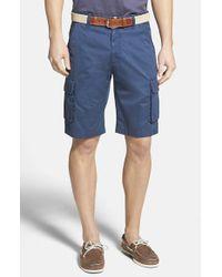 Robert Graham - Blue 'globe Trotter' Cargo Shorts for Men - Lyst