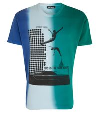 Raf Simons Green Collage Print T-shirt for men
