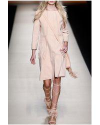 Alberta Ferretti | Natural Leather Fringe Coat | Lyst