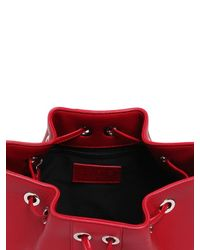 Versus Red Studded Leather Bucket Bag
