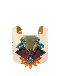 Anton Heunis | Metallic Crystal Cluster Cuff Bracelet | Lyst