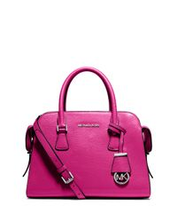 MICHAEL Michael Kors | Pink Harper Medium Satchel Bag | Lyst