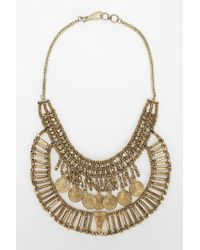 Urban Outfitters | Metallic Asa Coin Bib Necklace | Lyst