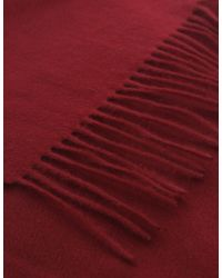 Jules B - Red Classic Cashmere Scarf for Men - Lyst