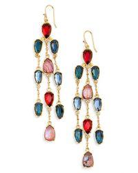 Lauren by Ralph Lauren - Multicolor Crystal Chandelier Earrings - Lyst