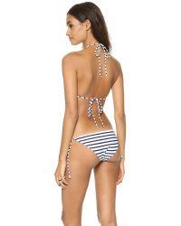 Rachel Pally Blue Ibiza Bikini Top Navy Stripe
