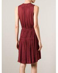 Isabel Marant Red 'Addyson' Draped Dress